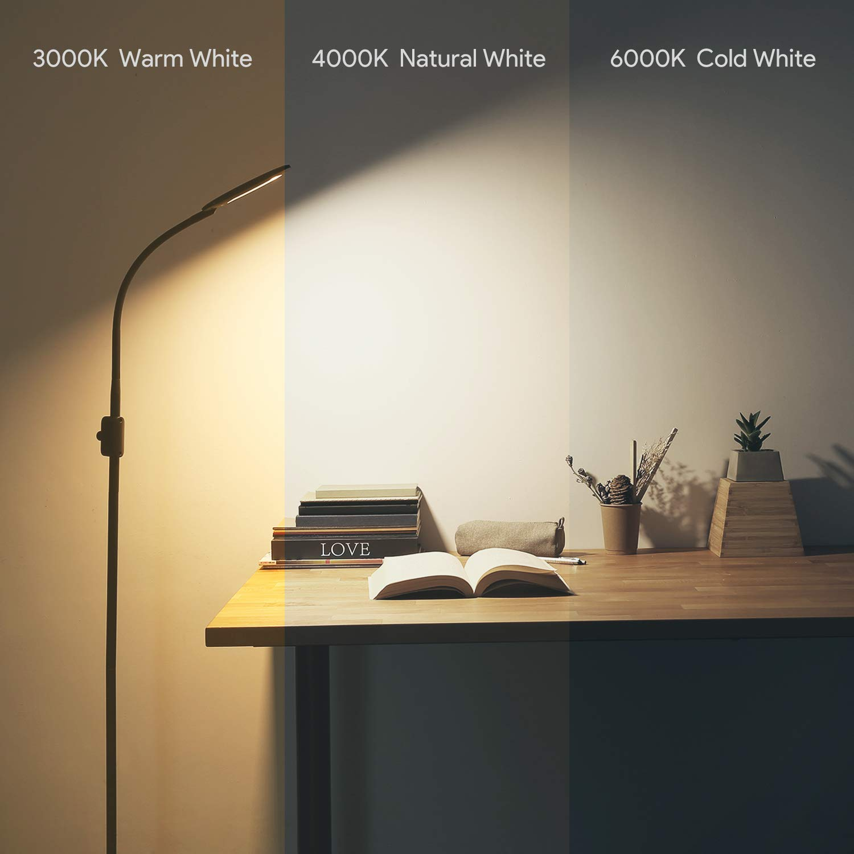 AUKEY LED Stehlampe für Wohnzimmer, Schlafzimmer und Büro, schwarz
