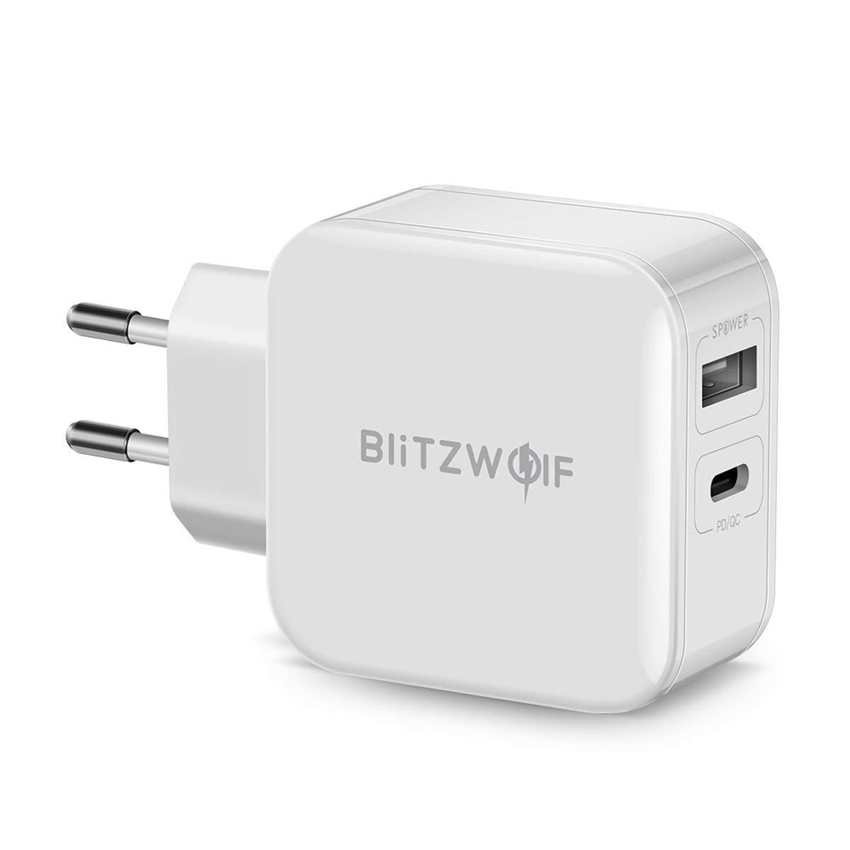 BlitzWolf 30W 2-Port USB C Ladegerät mit Power Delivery