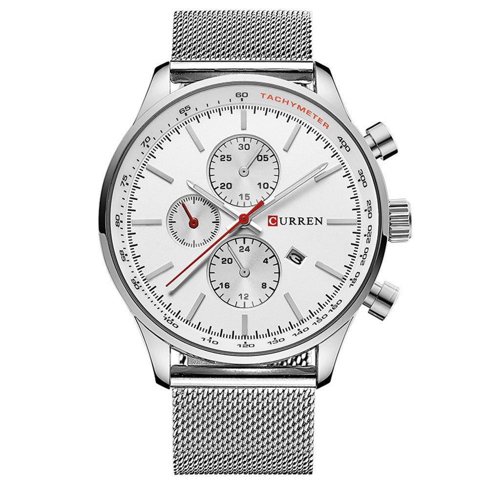 Curren Herren Quartz Uhren,Casual Analoge Quartzuhr, Multifunktionale Militär