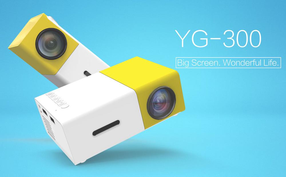 Coolux YG300 YG-300 Mini LCD LED Projektor 400-600LM 1080p Bildschirm 320 x 240