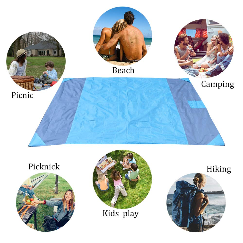 PRAVETTE Picknickdecke, 230 * 160 cm Outdoor Camping Picknick Decke – Wasserdichte Picknickdecke und Stranddecke