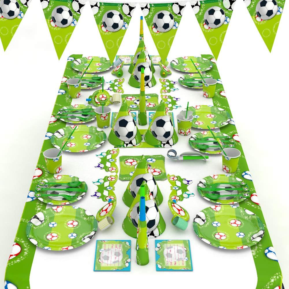 XREXS Fußball Party Set 16 Stile 90 Packungen Fußball Geburtstag Set
