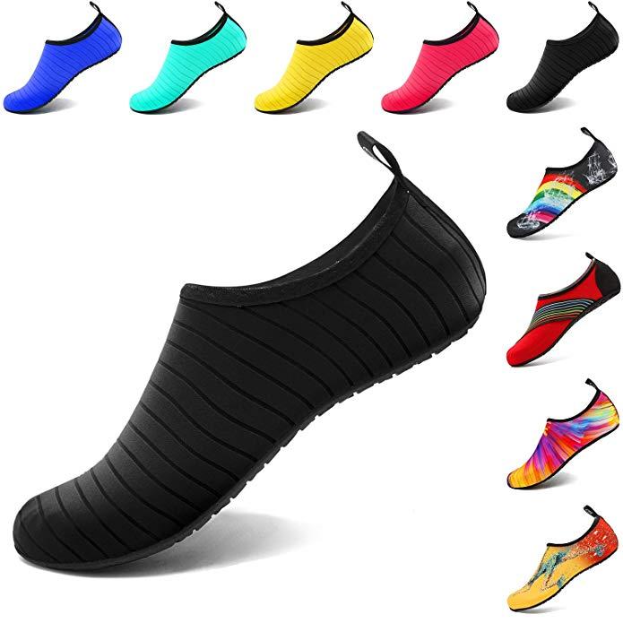 VIFUUR Wassersport Schuhe Barfuß Quick-Dry Aqua Yoga Socken Slip-on