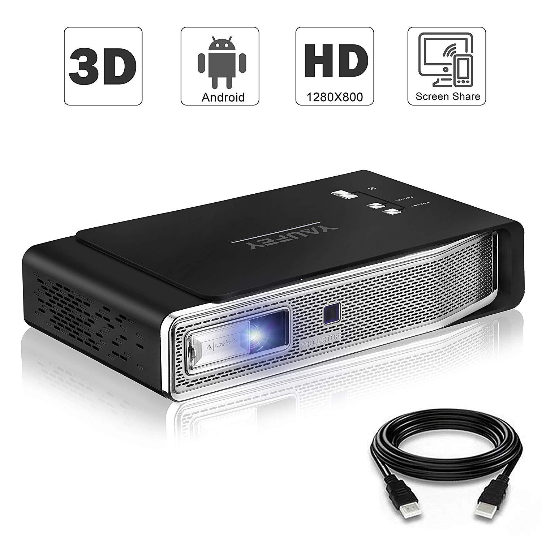 Yaufey Beamer 3D Mini Beamer Tragbarer 4200 Lumen unterstützt Full HD 1080P Multimedia LED Android Beamer