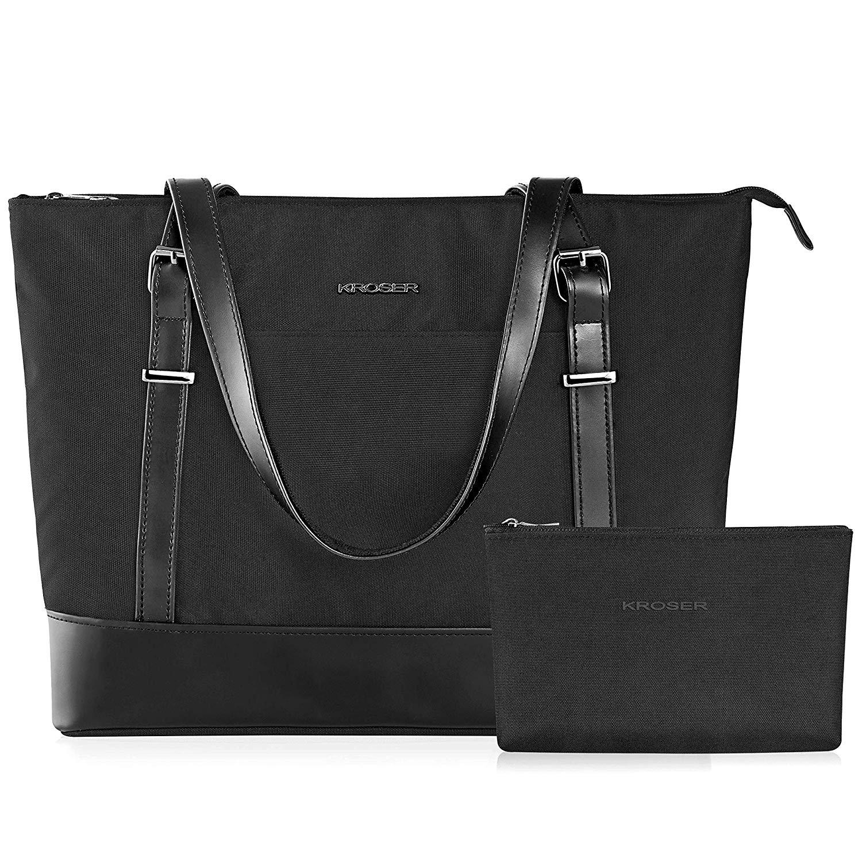 KROSER Laptop Damen Handtasche Schwarz Handtaschen