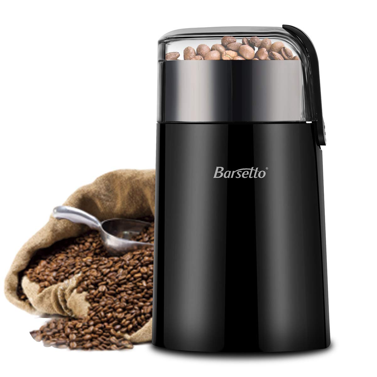 Kaffeemühle Barsetto Elektrische One-Touch HyperGrind Precision Edelstahlklingenmühle