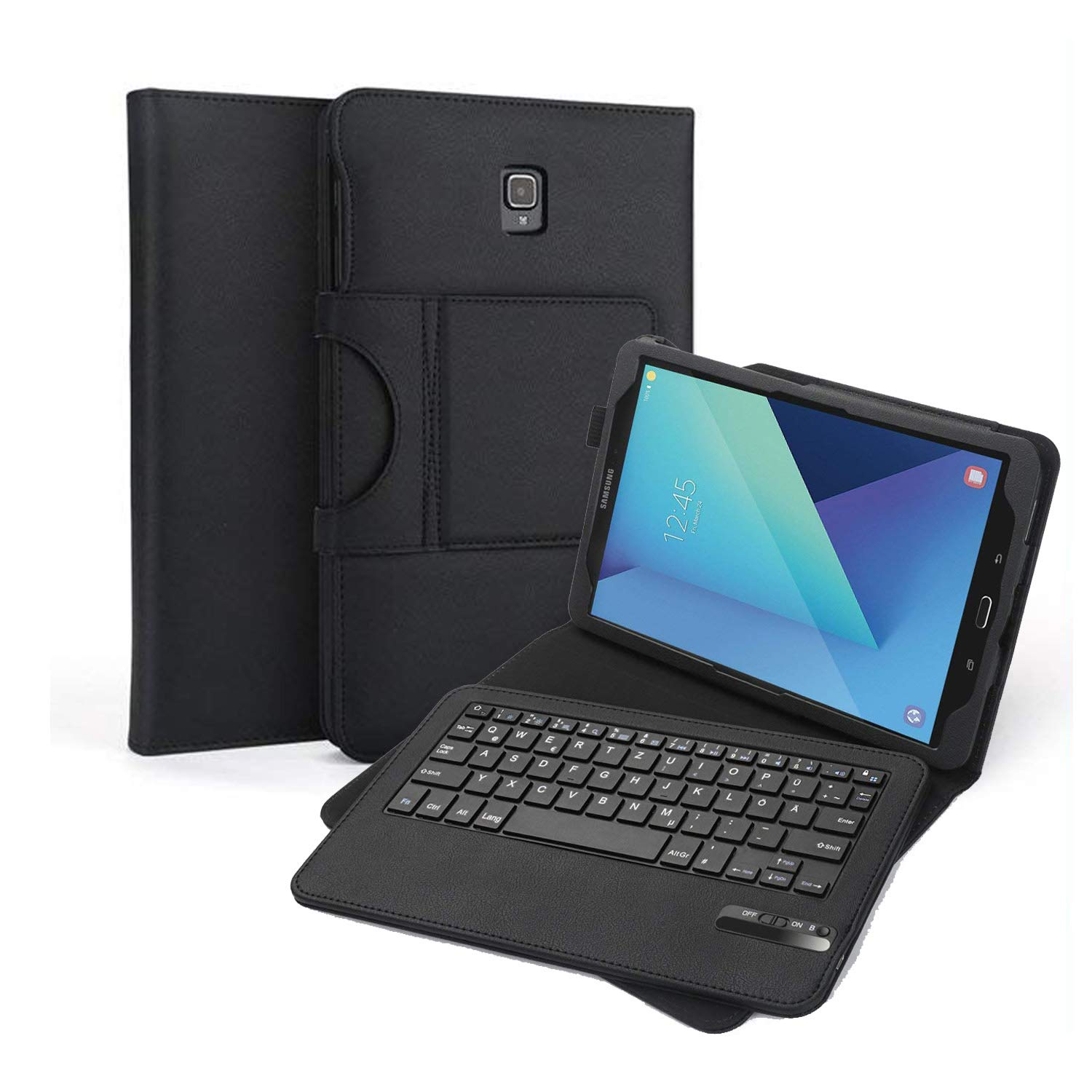 Jelly Comb Bluetooth Tastatur mit Hülle für Samsung Galaxy Tab S3 9.7 Zoll, Kabellose Abnehmbare Tablet Tastatur Hülle für Samsung T820 / T825 26,43cm (9,7 Zoll)