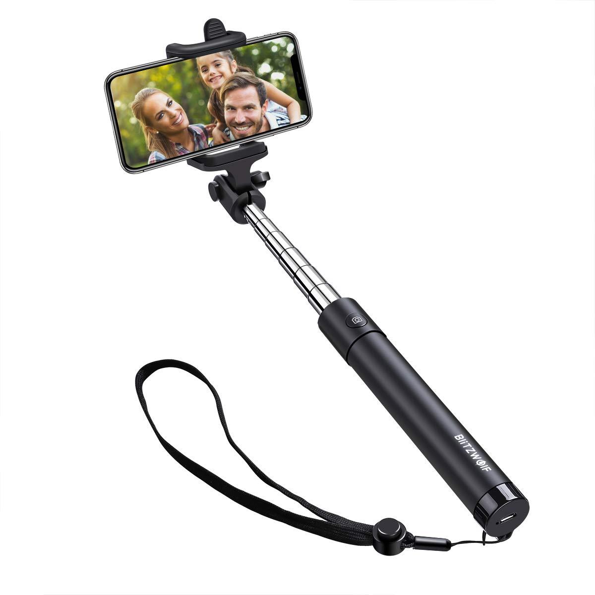 Bluetooth Selfie Stick, BlitzWolf Mini Erweiterbar Selfie Stange Stab