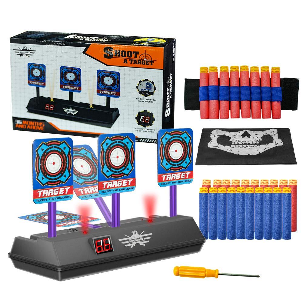 Zielscheibe für Nerf, Auto Reset Elektro-Schießscheiben, Digitale Shooting Target Set