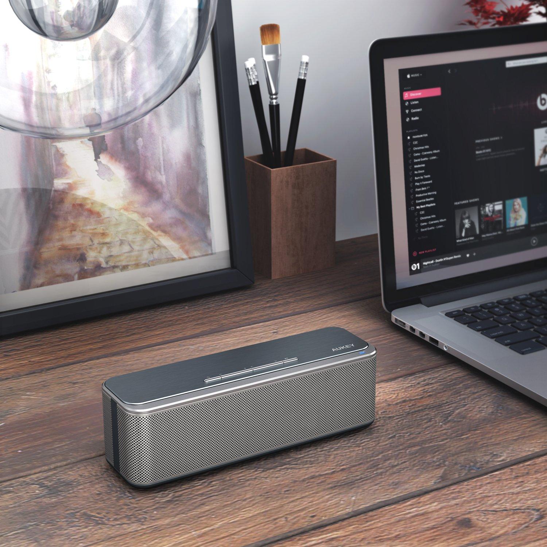 AUKEY Bluetooth Lautsprecher 16W Dual-Treiber un Duale Bass-Radiatoren verstärkter Bass