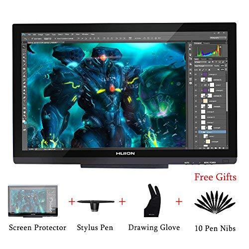 HUION Kamvas GT-220 V2 8192 Druckstufen Grafikzeichentablett Monitor 21,5 Zoll 1 920 x 1 080 HD IPS Stift-Display