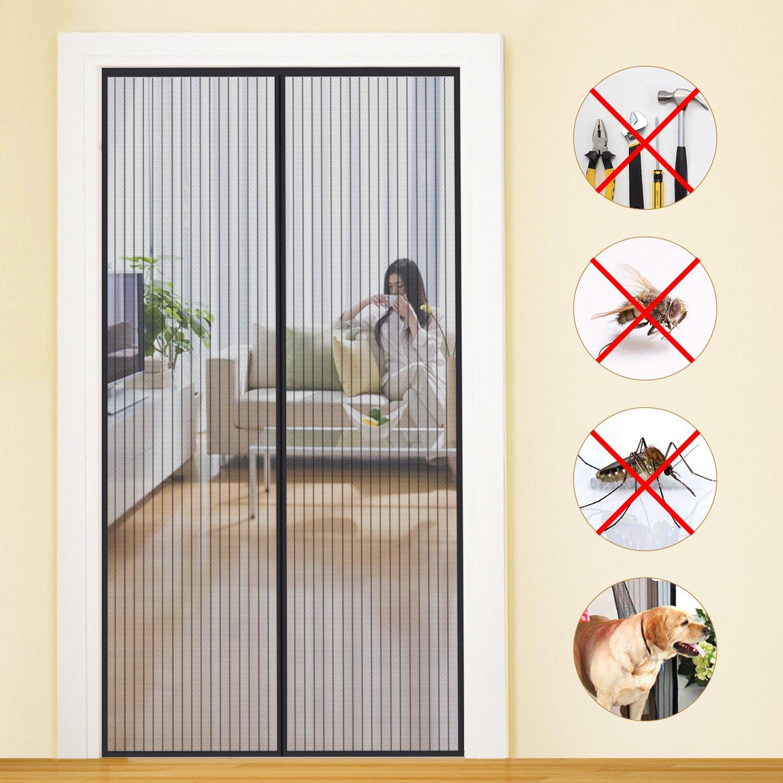 MYCARBON Magnet Fliegengitter Tür Insektenschutz Balkontür Fliegenvorhang 90×210
