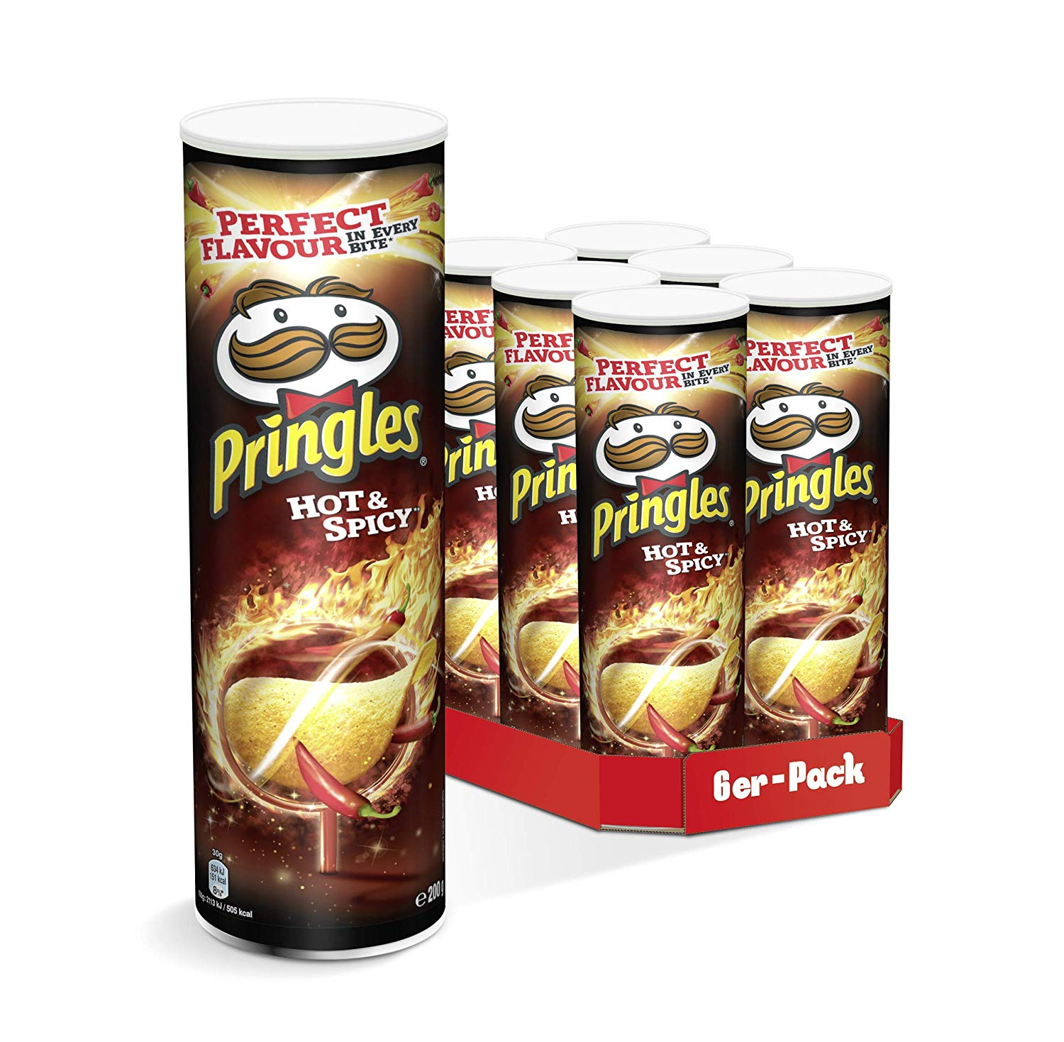 Pringles Hot & Spicy | 6er Party-Pack (6 x 200g)