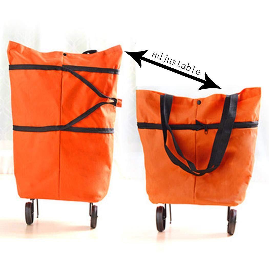 Jintes Faltbare Wiederverwendbare Tasche Rolling Wheel Einkaufswagen Tote Handtasche