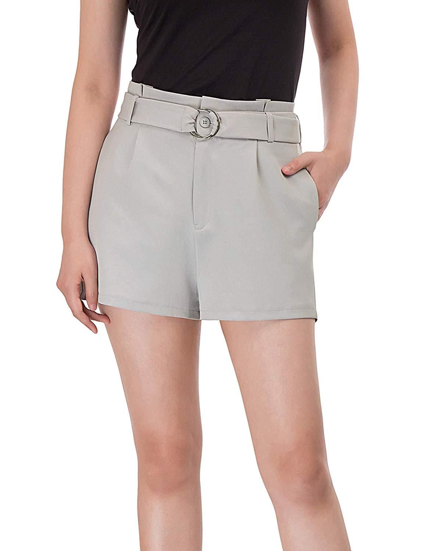 KARIN Sommer Elastische Kurze Hose Damen Shorts mit Tunnelzug