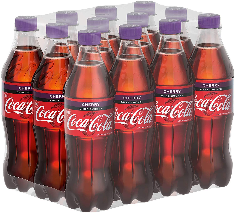 Coca-Cola Zero Sugar Cherry / Fruchtiges Erfrischungsgetränk ohne Zucker in handlichen Flaschen