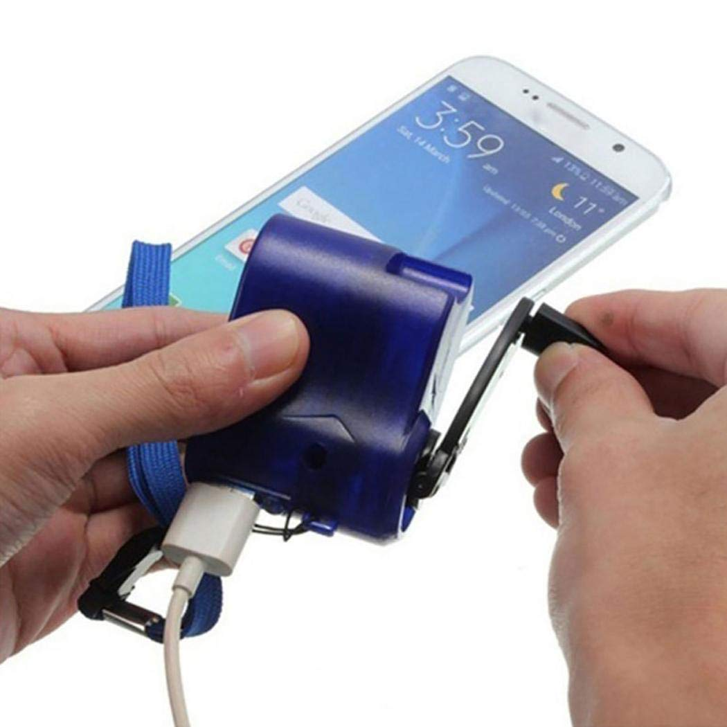 Notaufladungsüberlebens-Werkzeuge im Freien USB-Handy-Handkurbel-Ladegerät Akkus