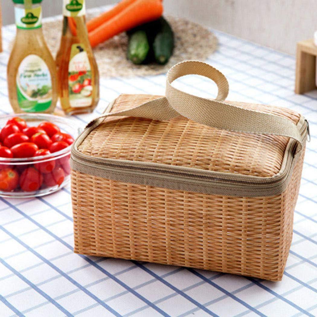 Thermal Cooler Lunch Bag Handtasche Beutel Picknick Aufbewahrungsbox Brotdosen & Wasserflaschen