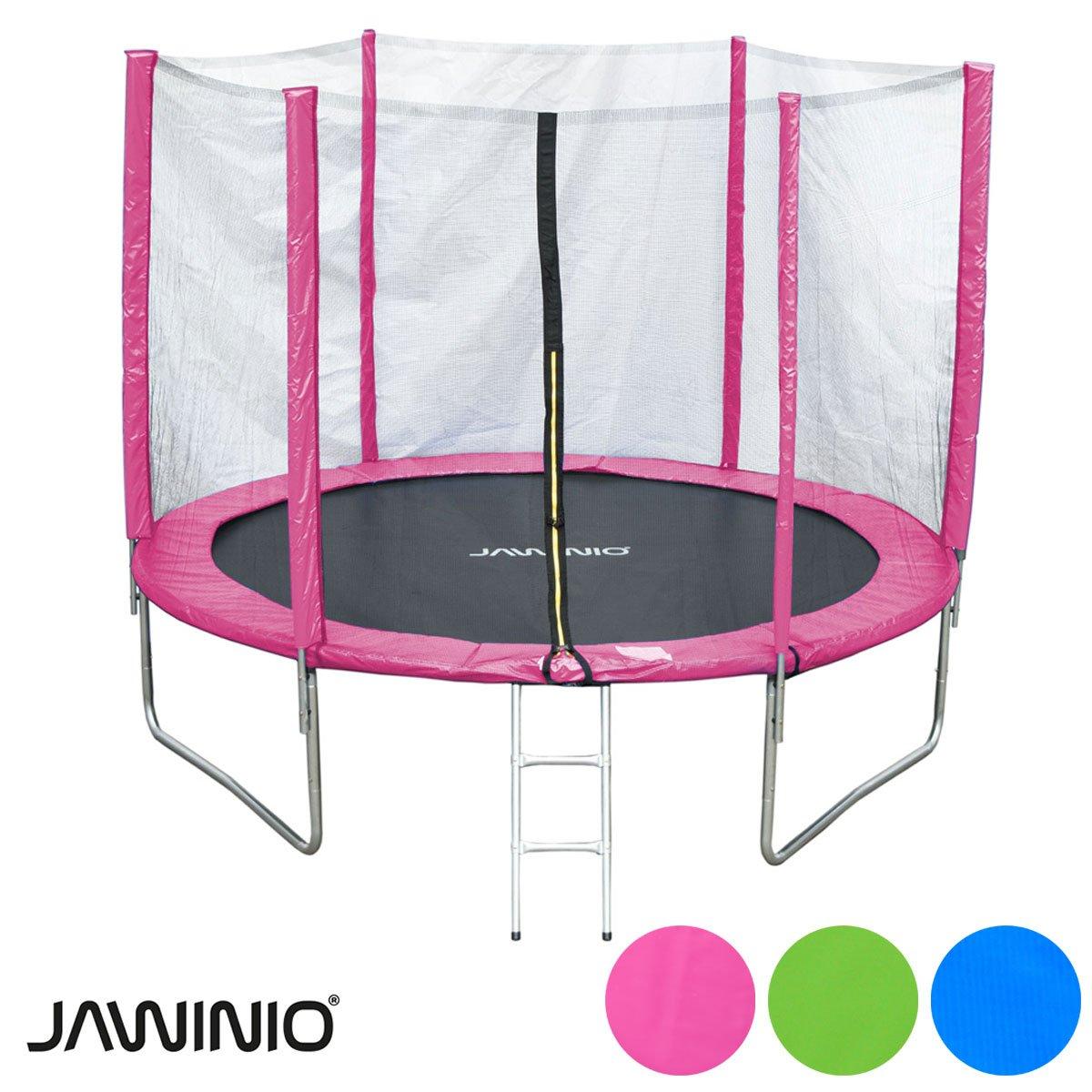 Jawinio Trampolin 244 cm (8F) Gartentrampolin Jumper Komplett-Set