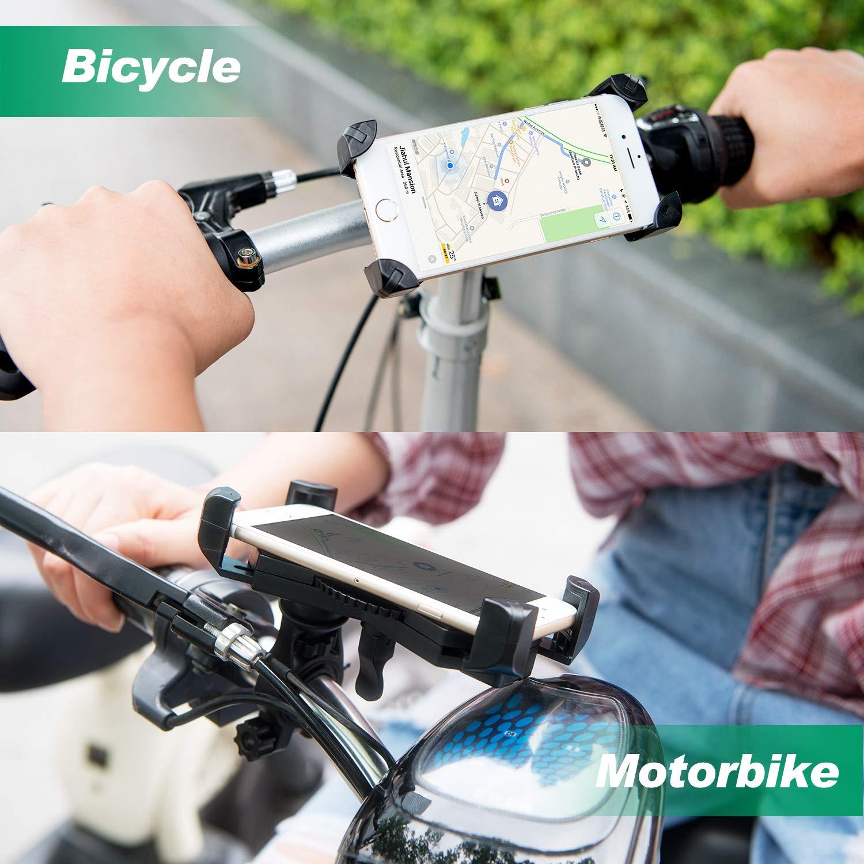Amoner Fahrrad Hanyhalterung Motorrad Fahrrad Handyhalter Universal für 20-35mm Fahrrad-Lenker