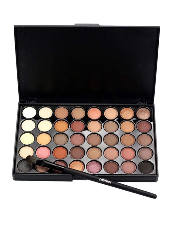40 Farben weiche, natürliche Mattglitter-Langanhaltende Lidschatten-Palette Make-Up
