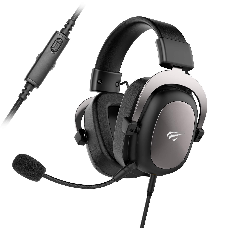 HAVIT PS4 Headset Stereo PC Gaming Headset mit abnehmbare Mikrofon