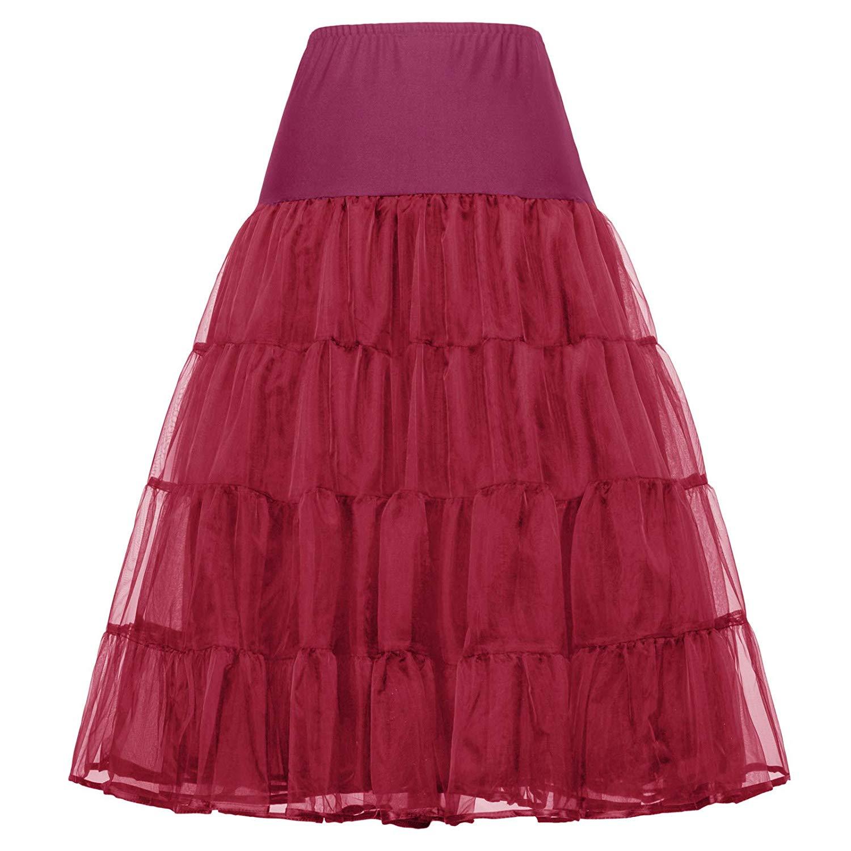 50s Petticoat Retro Unterrock Reifrock für Rockabilly Kleid Brautkleid