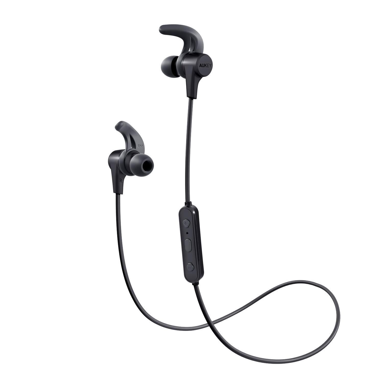 AUKEY Sport Bluetooth Kopfhörer Kabellos Kräftiger Bass, In Ear Ohrhörer mit Mikrofon