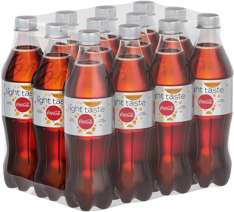 Coca-Cola Light Taste Exotic Der leichte Geschmack mit einer Note von Mango / 12 x 500 ml Einweg Flasche