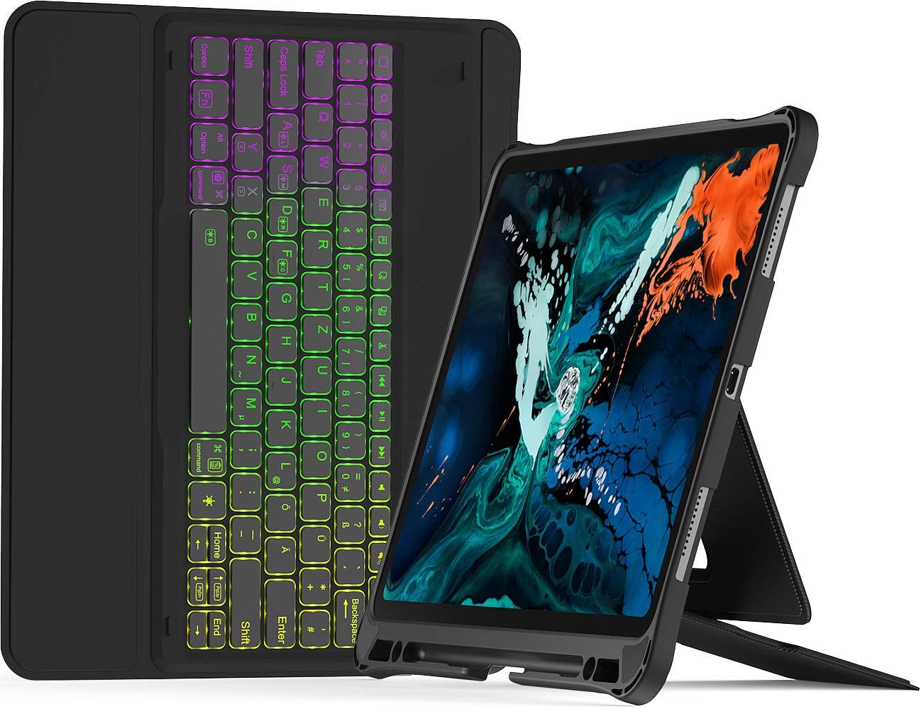 Inateck Tastatur Hülle kompatibel mit 12,9″ iPad Pro