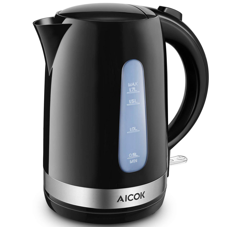 Aicok Wasserkocher 1.7L 2200W BPA-frei, Elektrischer Wasserkocher