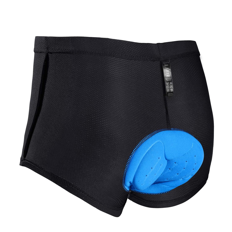 JXJFOZ Radunterhose Herren Gel, Fahrradhose Gepolstert Funktionsunterwäsche Atmungsaktiv 3D Unterhose
