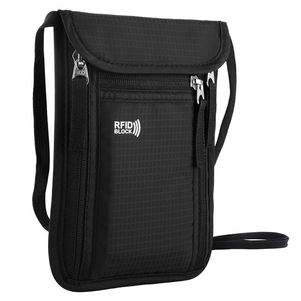 KEAFOLS Brustbeutel Brusttasche Reisegeldbeutel mit RFID-Schutz wasserdicht Umhängebeutel