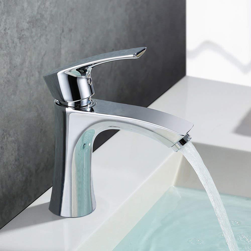 Homelody Wasserhahn Waschbecken Armatur Bad Mischbatterie Waschtischarmatur Badarmatur