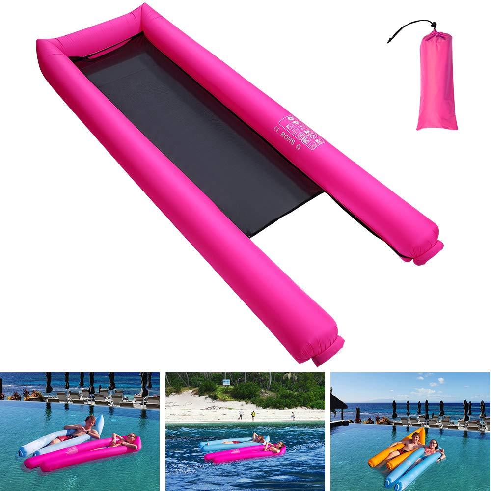Coralov Aufblasbares Schwimmendes Bett, tragbare schwimmende Wasser-Hängematte
