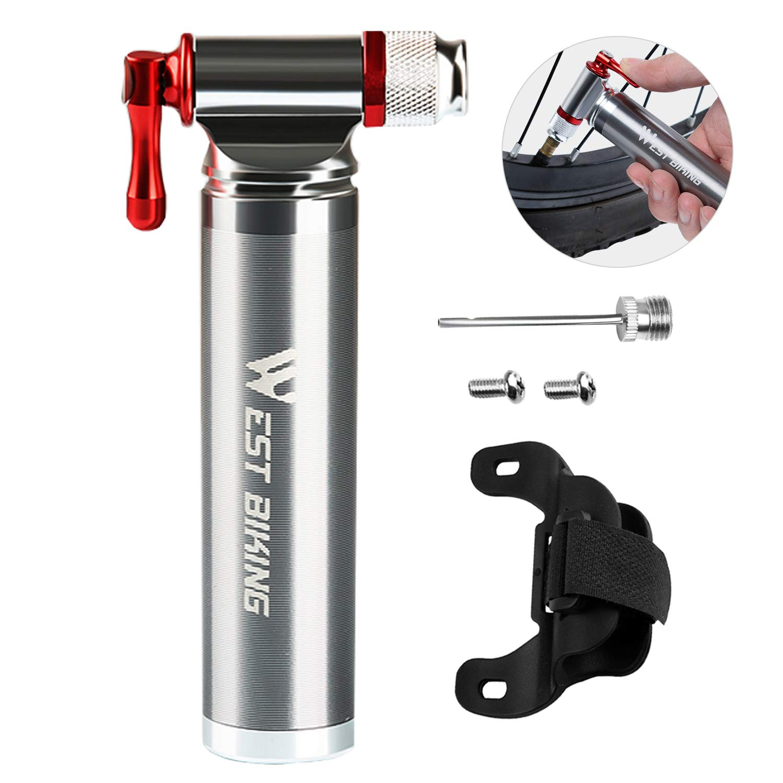 XREXS Minipumpe Fahrradpumpe CO2 Kartuschenpumpe CO2 Fahrrad Pumpe Passt