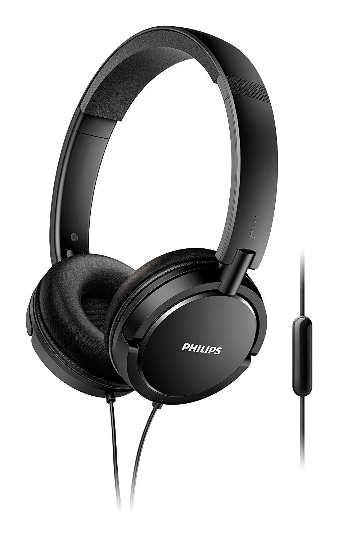 SHL5005/00 On-Ear Kopfhörer mit Mikrofon schwarz