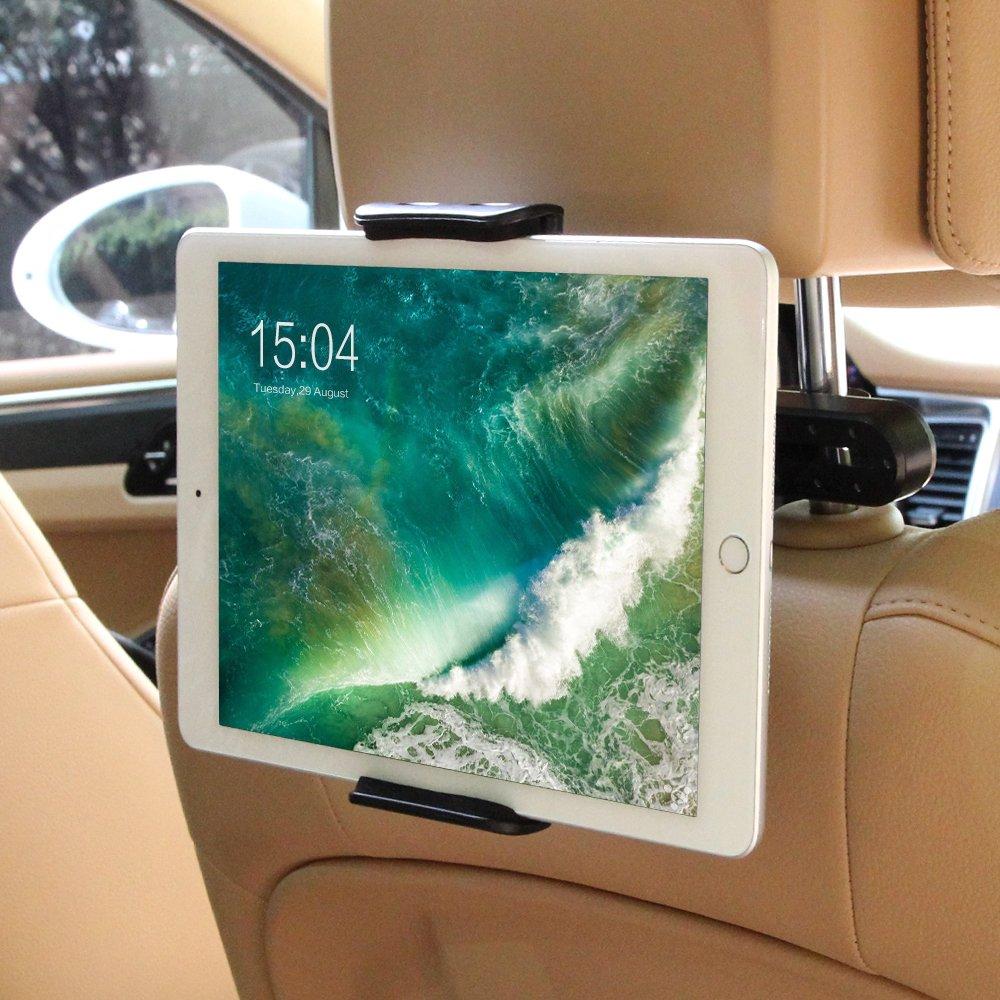 Tablet Halterung Auto, POOPHUNS KFZ-Kopfstützen Tablet Halterung, 360 Grad Drehung
