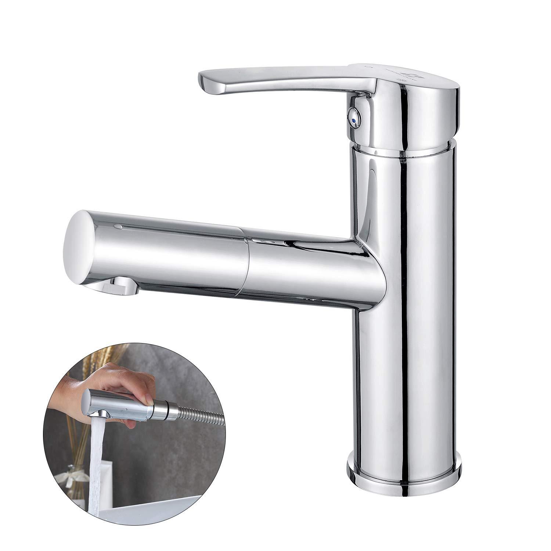 Homelody Wasserhahn Bad Armatur Waschtischarmatur Mischbatterie