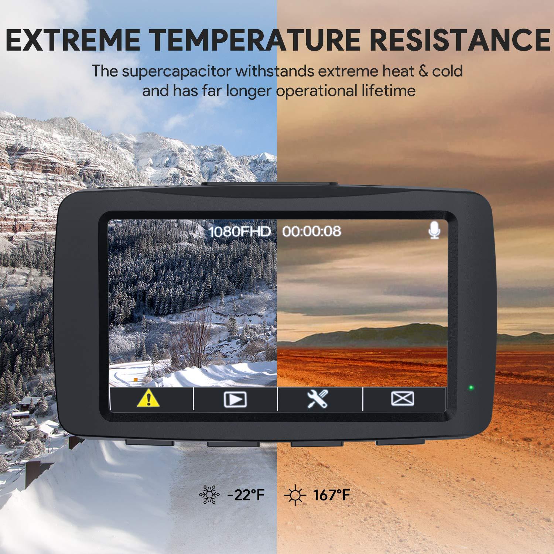 AUKEY Dashcam Full HD 1080P Autokamera Video Recorder mit 140° Weitwinkelobjektiv