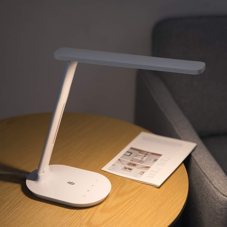 TaoTronics Schreibtischlampe LED, Tisch Licht, 3 Farb und 5 Helligkeitsstufen Dimmbare Tischleuchte