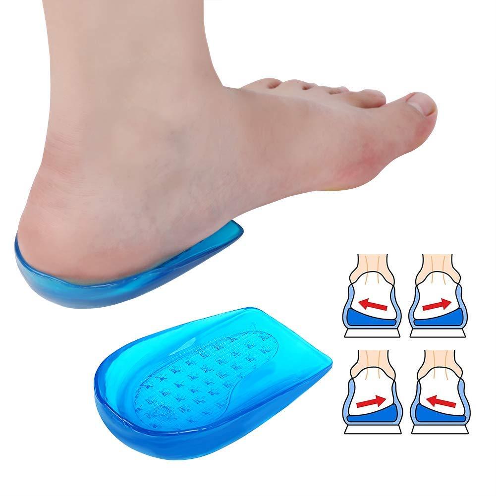 Haofy Gel Fersenkissen Fersenpolster, 1 Paar Fersensporn Silikon Fersenschutz Schuheinlagen