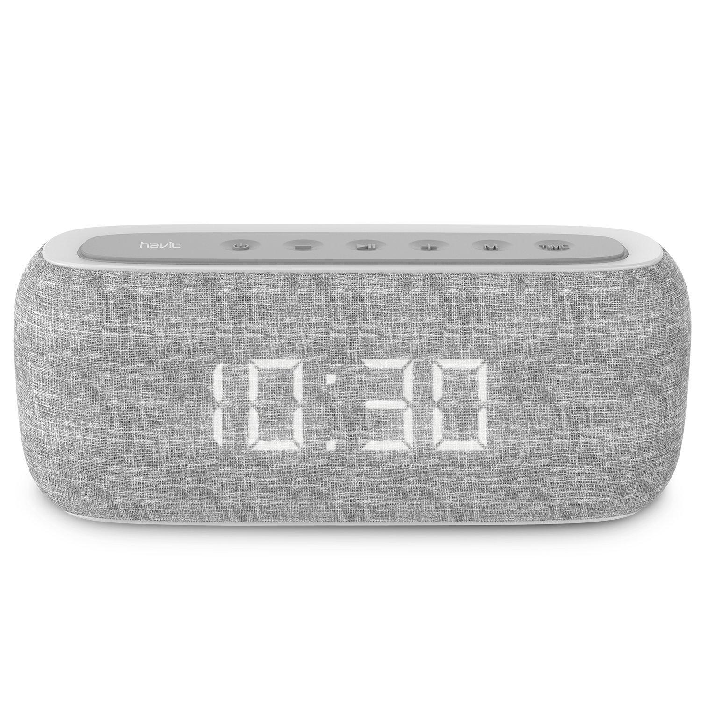 HAVIT Bluetooth Lautsprecher Box mit 10W Dual-Treiber Reinem Bass, 8-12 Stunden Spielzeit