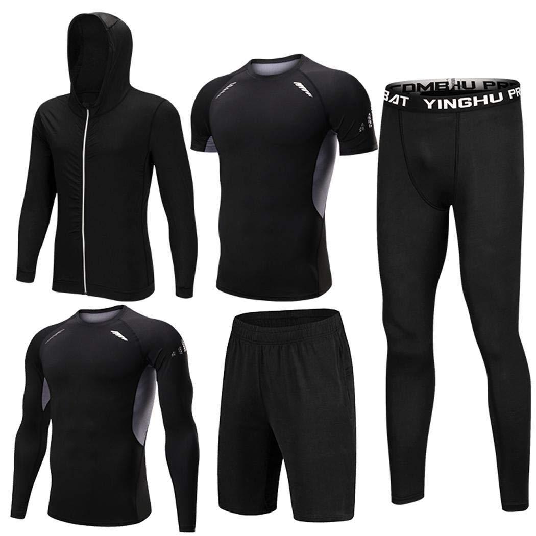 Herren 5 Pieces Fitness Gym Sportanzüge für Männer Sportbekleidung