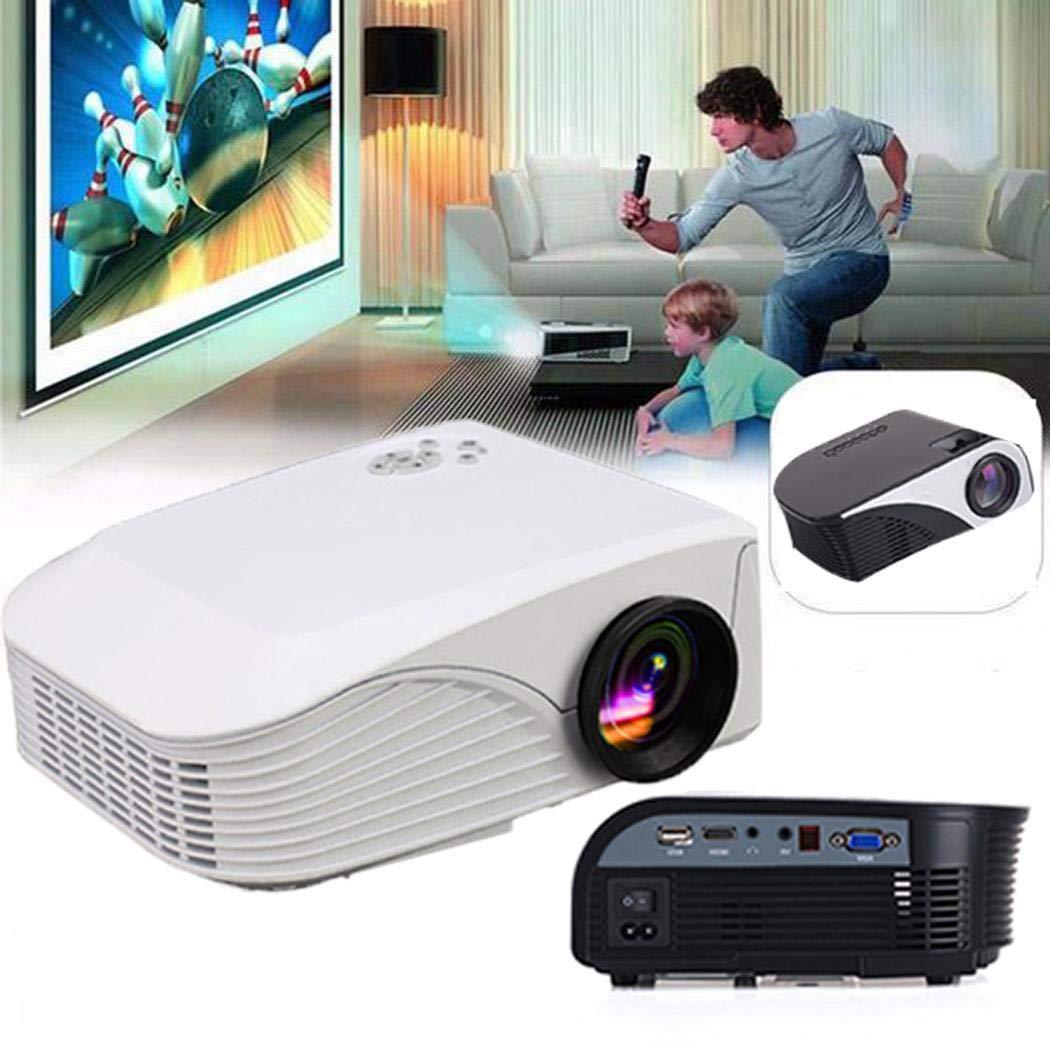 Mini Projektor, Full HD 1080P und 150-Zoll-Display unterstützt, tragbarer 1900-Lux-Filmprojektor