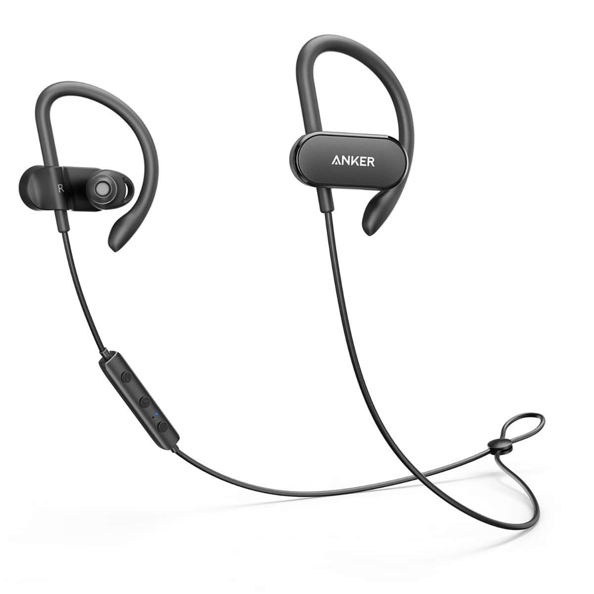 Anker SoundBuds Curve Bluetooth Sport Kopfhörer mit Wasserschutzklasse IPX5/ 14-Stunden-Spielzeit, Lauf-Trainings-Headset