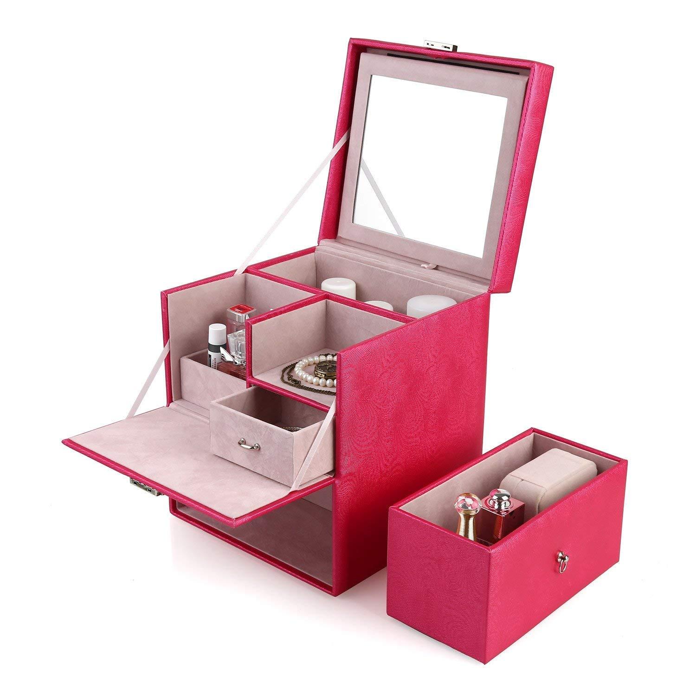 FEMOR Kosmetikkoffer Kosmetiktasche Beauty Case Make Up Organizer Multifunktionaler Schminkkoffer