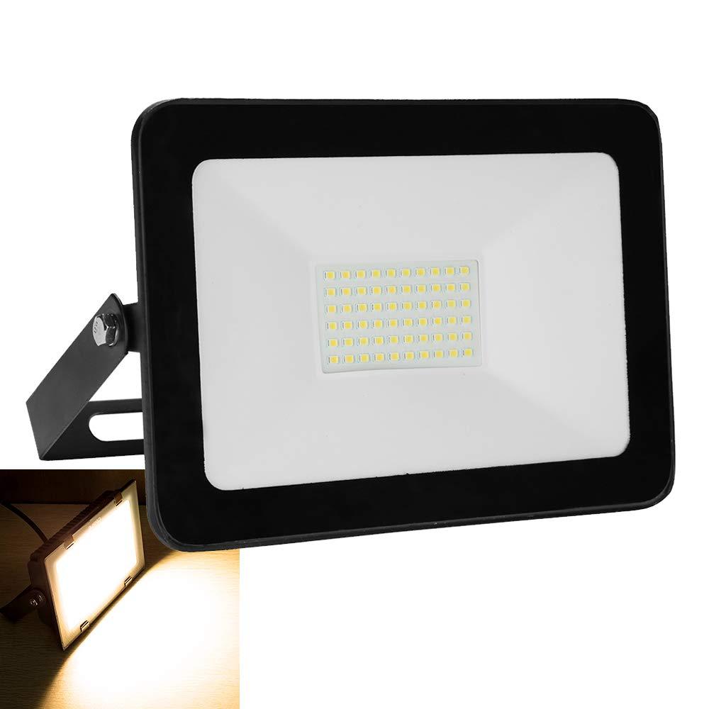 wolketon 50W LED Fluter 230V Flutlichtstrahler Aluminium Flutlicht Baustrahler Sicherheitsleuchte
