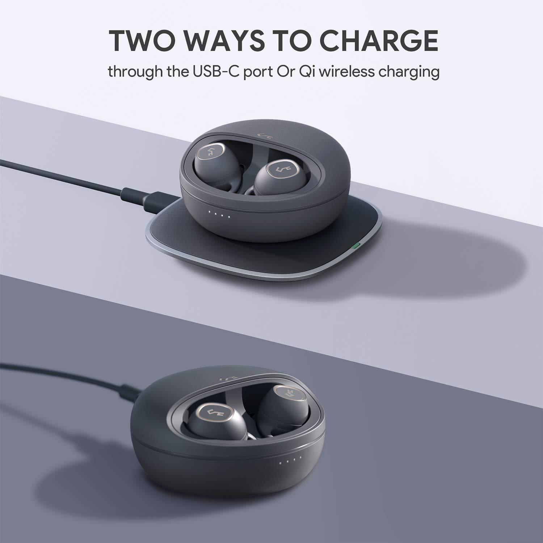 AUKEY Echt kabellose Ohrhörer, 7 Std. Wiedergabezeit pro Aufladung