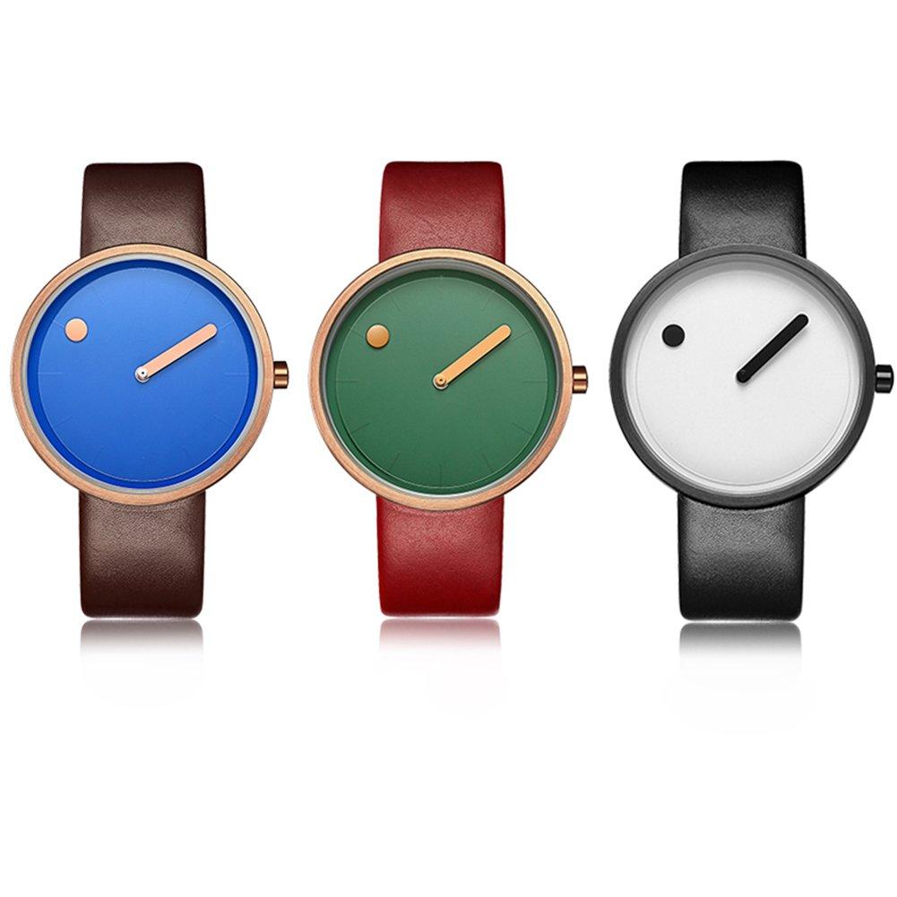 Dilwe Armbanduhr Uhr Frauen Dame Schmuckuhr Quartz Movement Round Dial Legierungs Elegante Uhr PU-Bügel